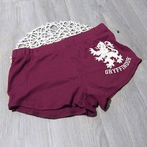 NWOT Gryffindor Harry Potter Sleep Pajama Shorts